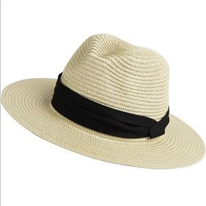 Straw packable hat